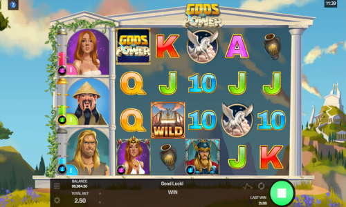 gods of power slot screen - Gods of Power Slot Review