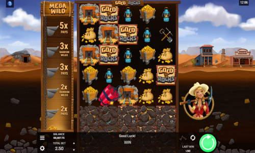 gold n rocks slot screen