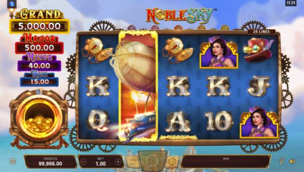 noble sky slot screen - Noble Sky Slot Review