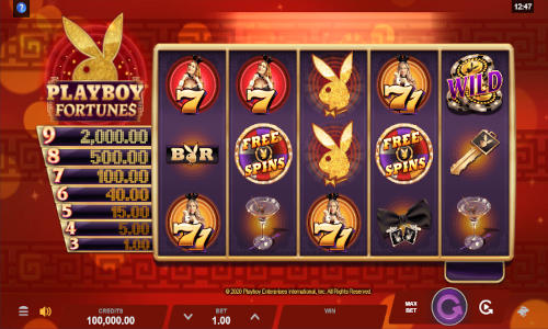 playboy fortunes slot screen - Playboy Fortunes Slot Review