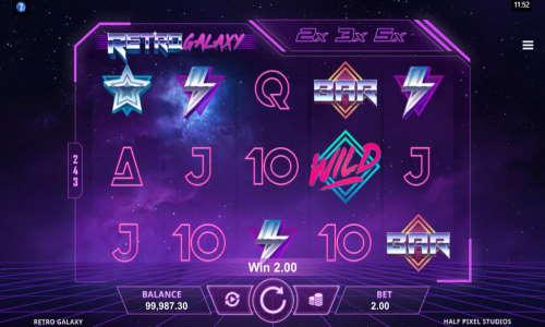 retro galaxy slot screen - Retro Galaxy Slot Game