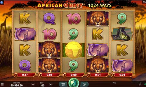 african quest slot screen - African Quest Slot Game
