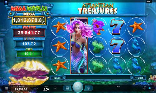 atlantean treasures moolah slot screen 1 - Atlantean Treasures Mega Moolah Slot Game
