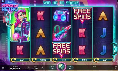 attack on retro slot screen - Attack on Retro Slot Game