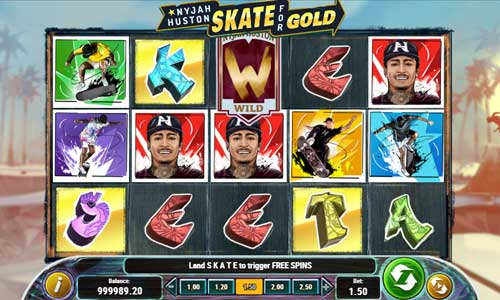 nyjah huston skate for gold slot screen - Nyjah Huston Skate Slot Game