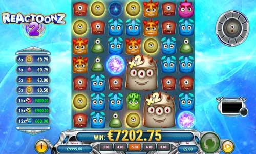reactoonz 2 slot screen - Reactoonz 2 Slot Review