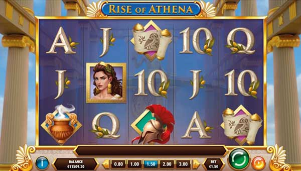 rise of athena slot screen - Rise of Athena Slot Game