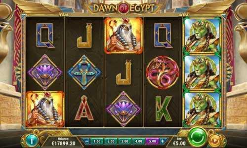 dawn of egypt slot screen - Dawn of Egypt Slot Game