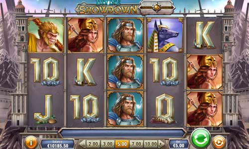 divine showdown slot screen - Divine Showdown Slot Review