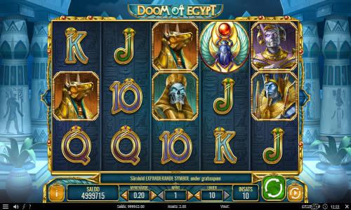 doom of egypt slot screen - Doom of Egypt Slot Game