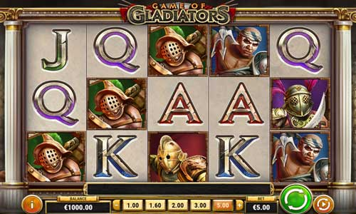 game of gladiators slot screen - Game of Gladiators Slot Game