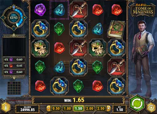 rich wilde and the tome of madness slot screen - Tome of Madness Slot Game