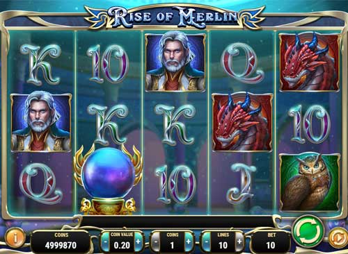 rise of merlin slot screen - Rise of Merlin Slot Review