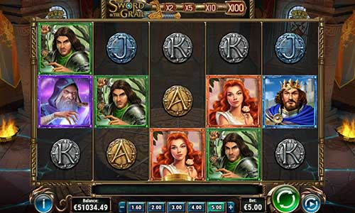 the sword and the grail slot screen - The Sword and the Grail Slot Review