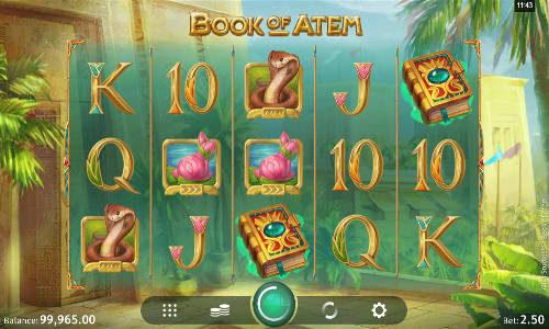 book of atem slot screen - Book of Atem Slot Review