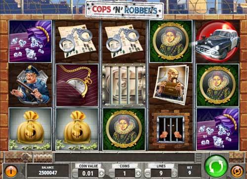 cops n robbers slot screen - Cops N Robbers Slot Game
