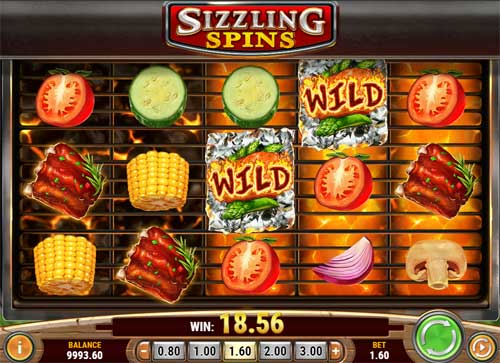 sizzling spins slot screen - Sizzling Spins Slot Review