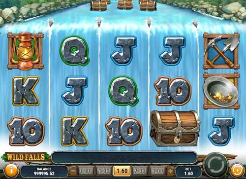 wild falls slot screen - Wild Falls Slot Review