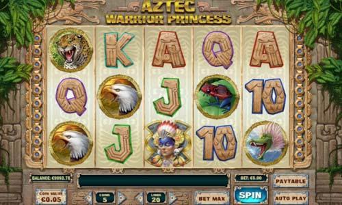 aztec warrior princess slot screen - Aztec Warrior Princess Slot Review