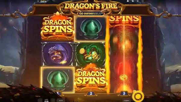 dragons fire infinireels slot screen - Dragons Fire Infinireels Slot Game