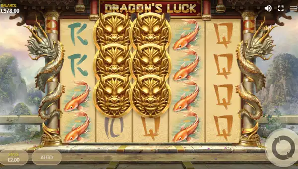 dragons luck deluxe slot screen 1 - Dragons Luck Deluxe Slot Game