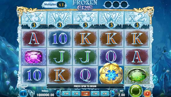 frozen gems slot screen - Frozen Gems Slot Game