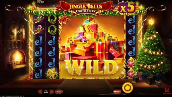 jingle bells power reels slot screen - Jingle Bells Power Reels Slot Game