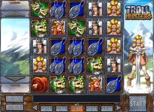 troll hunters slot screen - Troll Hunters Slot Game