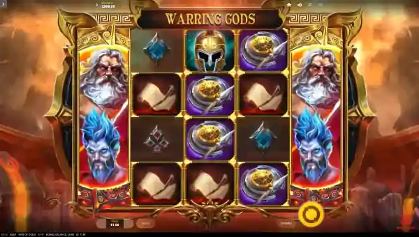 war of gods slot screen 1 - War of Gods Slot Game