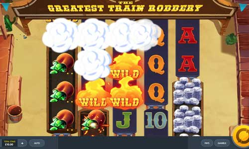 the greatest train robbery slot screen - The Greatest Train Robbery Slot Review