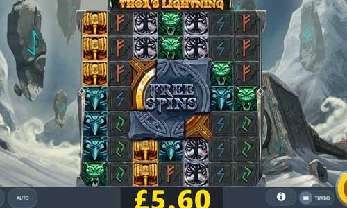 thors lightning slot screen - Thors Lightning Slot Review