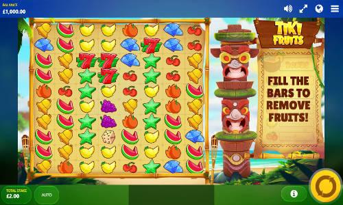 tiki fruits slot screen - Tiki Fruits Slot Review