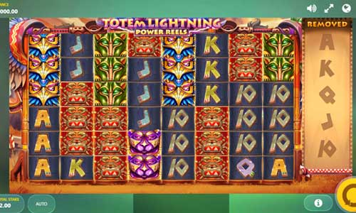 totem lightning power reels slot screen - Totem Lightning Slot Review