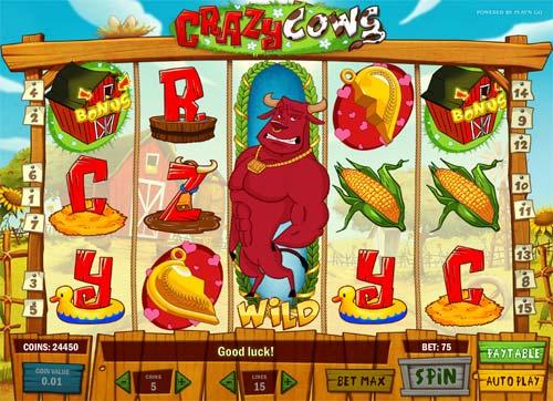 crazy cows slot screen - Crazy Cows Slot Review