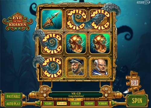 eye of the kraken slot screen - Eye of the Kraken Slot Review