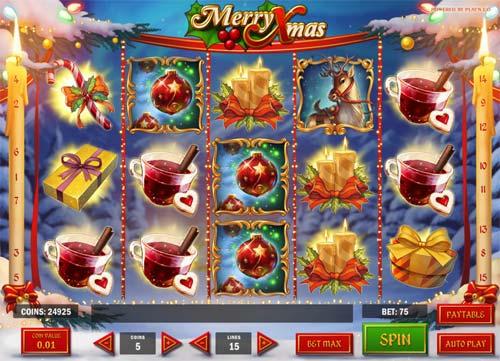 merry xmas slot screen - Merry Xmas Slot Review