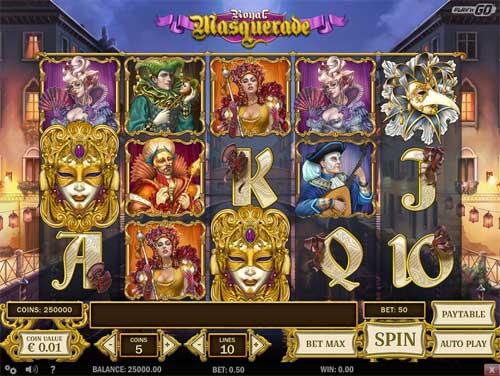 royal masquerade slot screen - Royal Masquerade Slot Review