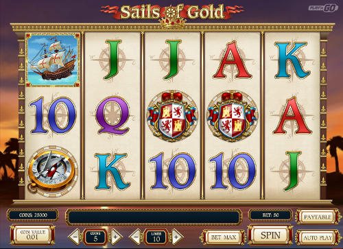 sails of gold slot screen - Sails of Gold Slot Review