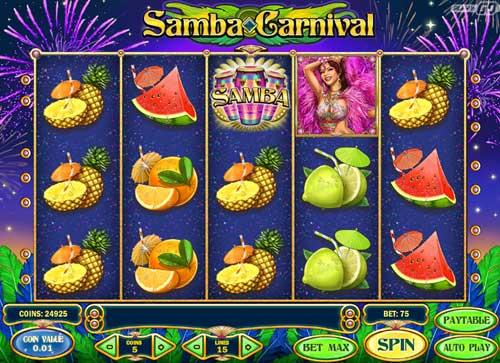 samba carnival slot screen - Samba Carnival Slot Review