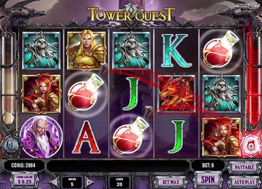 tower quest slot screen - Tower Quest Slot Review