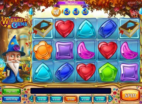 wizard of gems slot screen - Wizard of Gems Slot Review