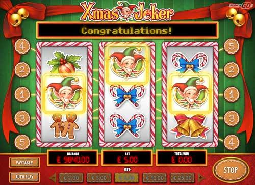xmas joker slot screen - Xmas Joker Slot Review