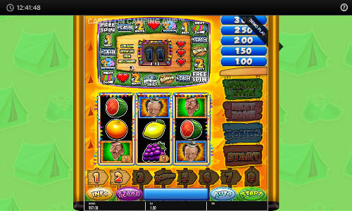 carry on camping slot screen - Carry On Camping Slot Review