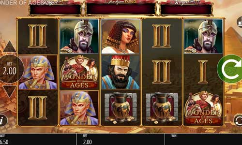 wonder of ages slot screen - Wonder of Ages Slot Review